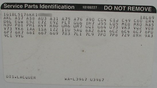 Where do you find paint code | GMC Acadia Forum